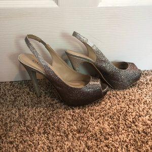 Ombré Silver Guess Heels